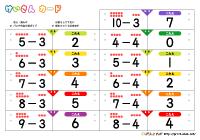 計算カード(足し算カード・引き算カード) | ぷりんときっず